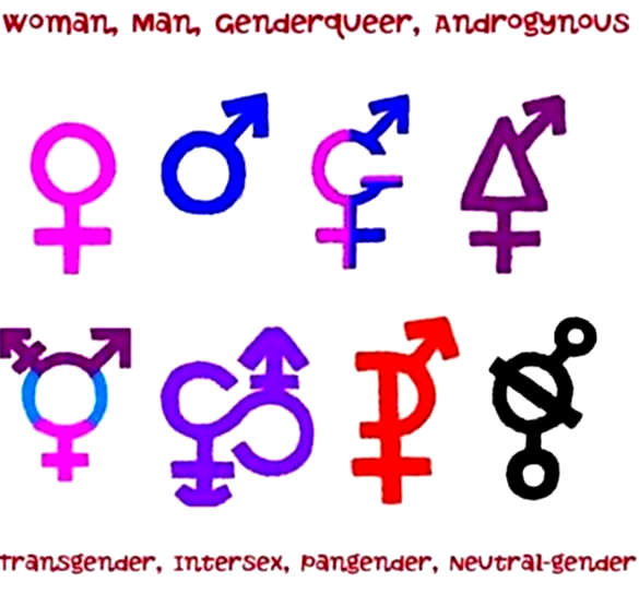 Тату пол гендерфлюидных символов идентичности - Tattoo Today