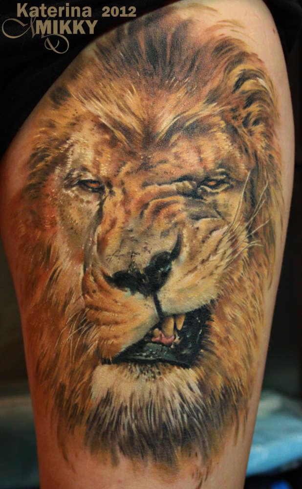 Тату льва и значение