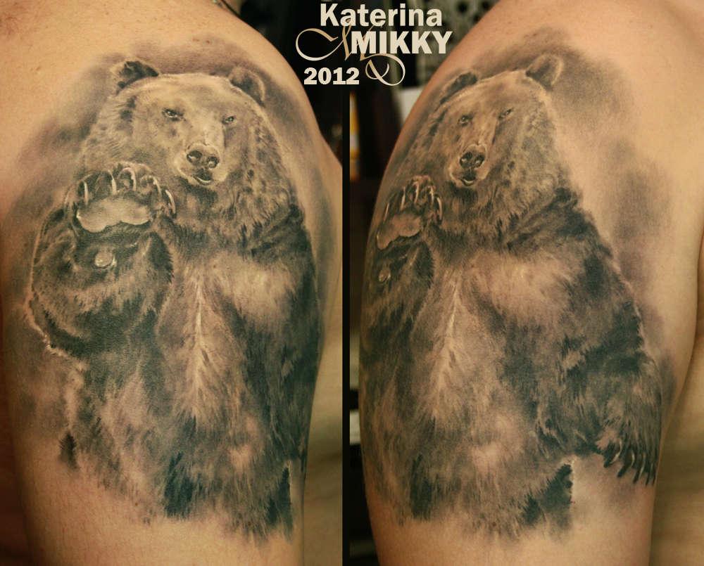 Татуировка медведь: 50 фото Значение, символика