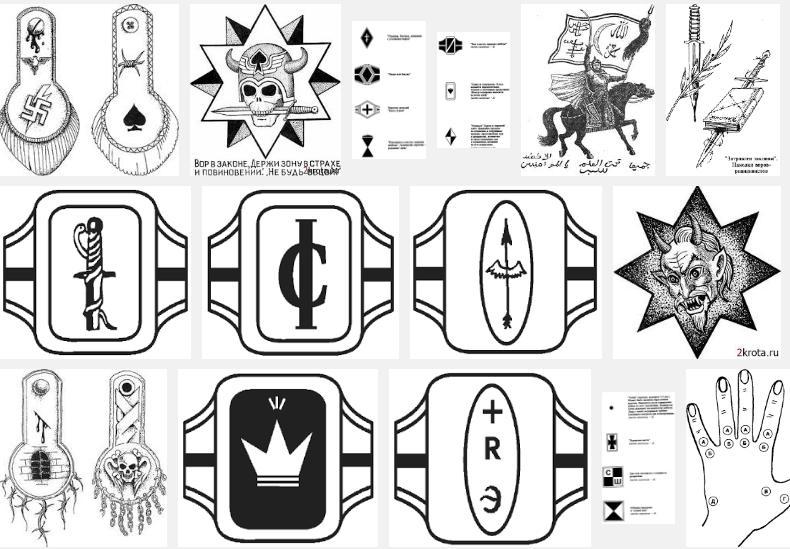 Значение татуировок на зоне в картинках